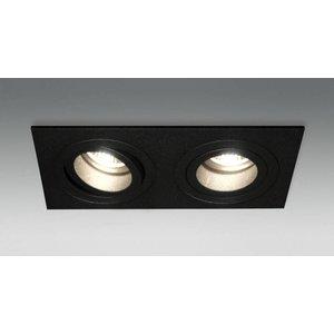 R&M Line Inbouwspot 2 lichts Tilt Blade 2X50 12v/230v zwart