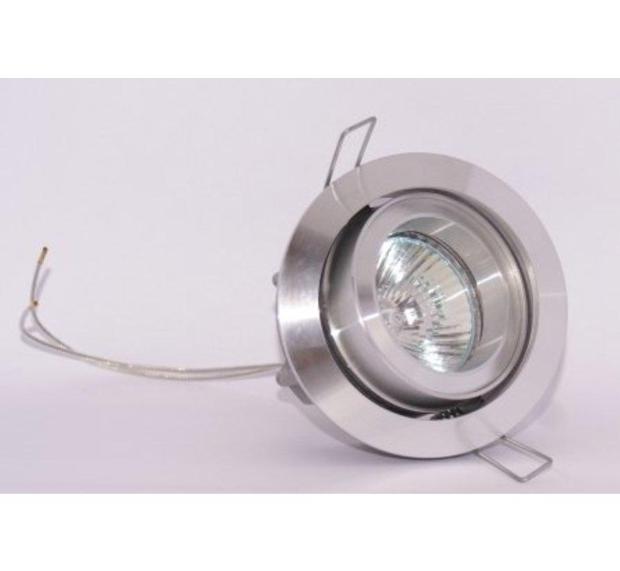 Aluminium design Inbouwspot Silver Tilt 030 W.L.