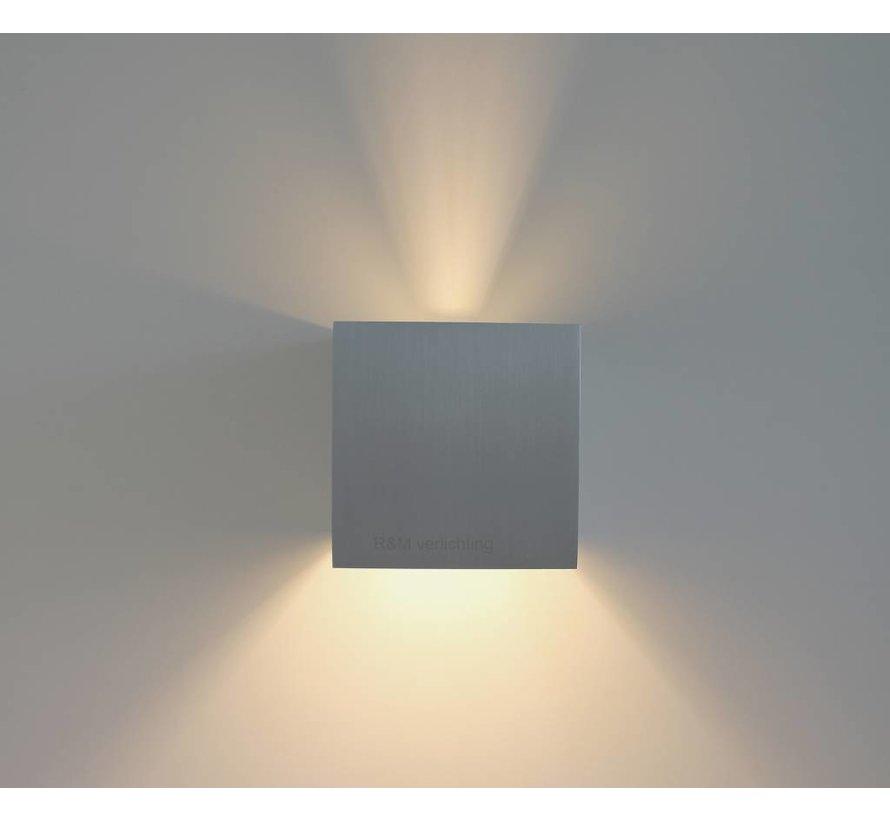 Wandlamp Square aluminium-mat G9 230v