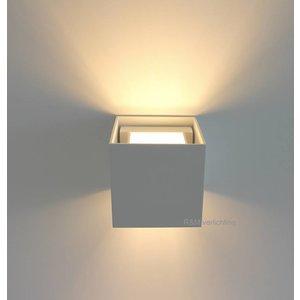 R&M Line Wall lamp Square white G9 230v