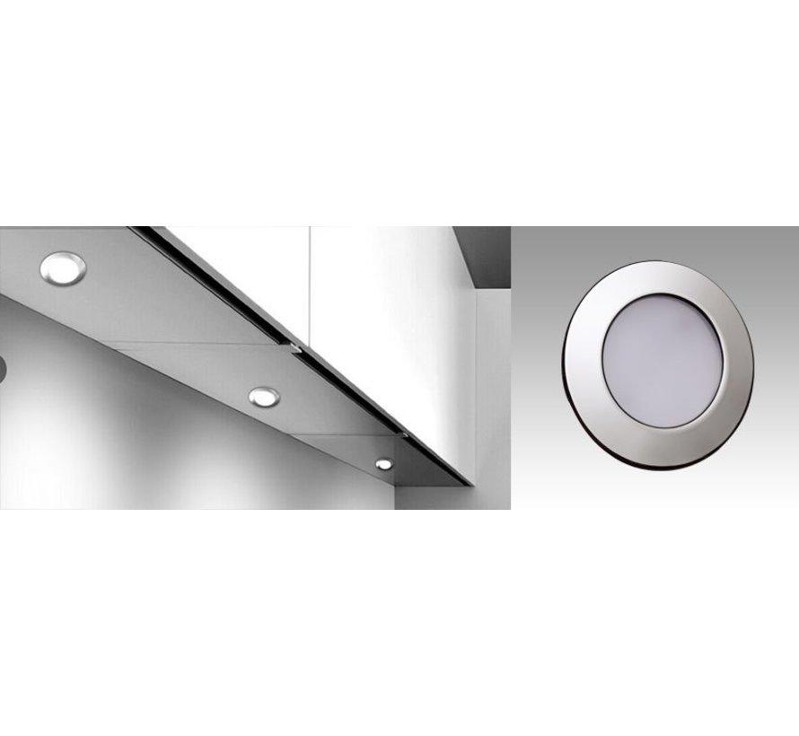 LED meubel inbouwspot 2.6w 12v DC 2700k warm wit