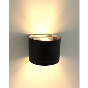 R&M Line Wandlamp Round zwart G9 230v