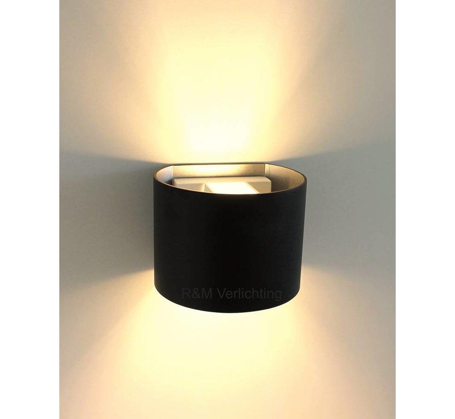 Wandlamp Round zwart G9 230v