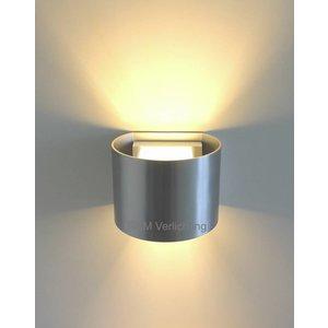 R&M Line Wandlamp Round aluminium-mat G9 230v