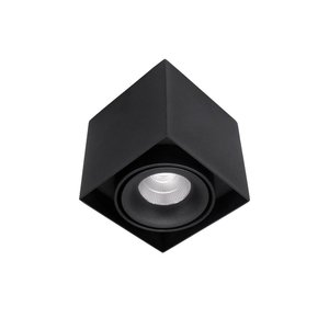Surface-mounted Luminaire LED 1-light black 2700K Dimmable