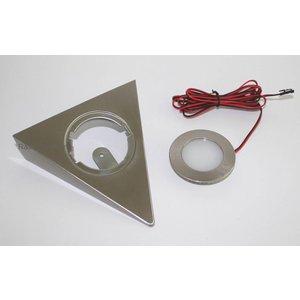 R&M Line Kastverlichting LED driehoek opbouwspot 2.6w 12v DC warm wit