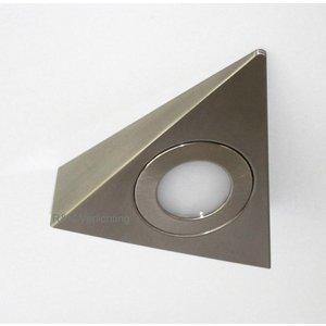 R&M Line Kastverlichting LED driehoek opbouwspot 2.6w 12v DC 2700k warm wit