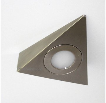 R&M Line surface LED triangle cabinet Lighting satin nickel