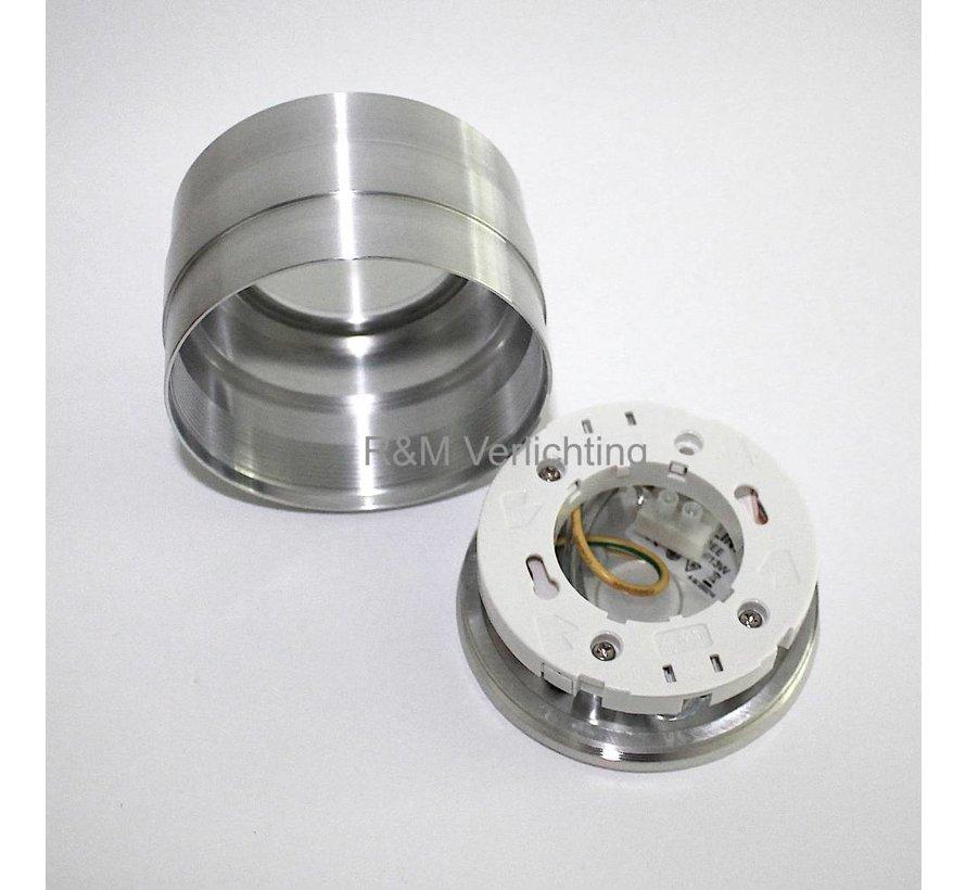 LED badkamer opbouw armatuur IP65 gx53 230v aluminium-mat