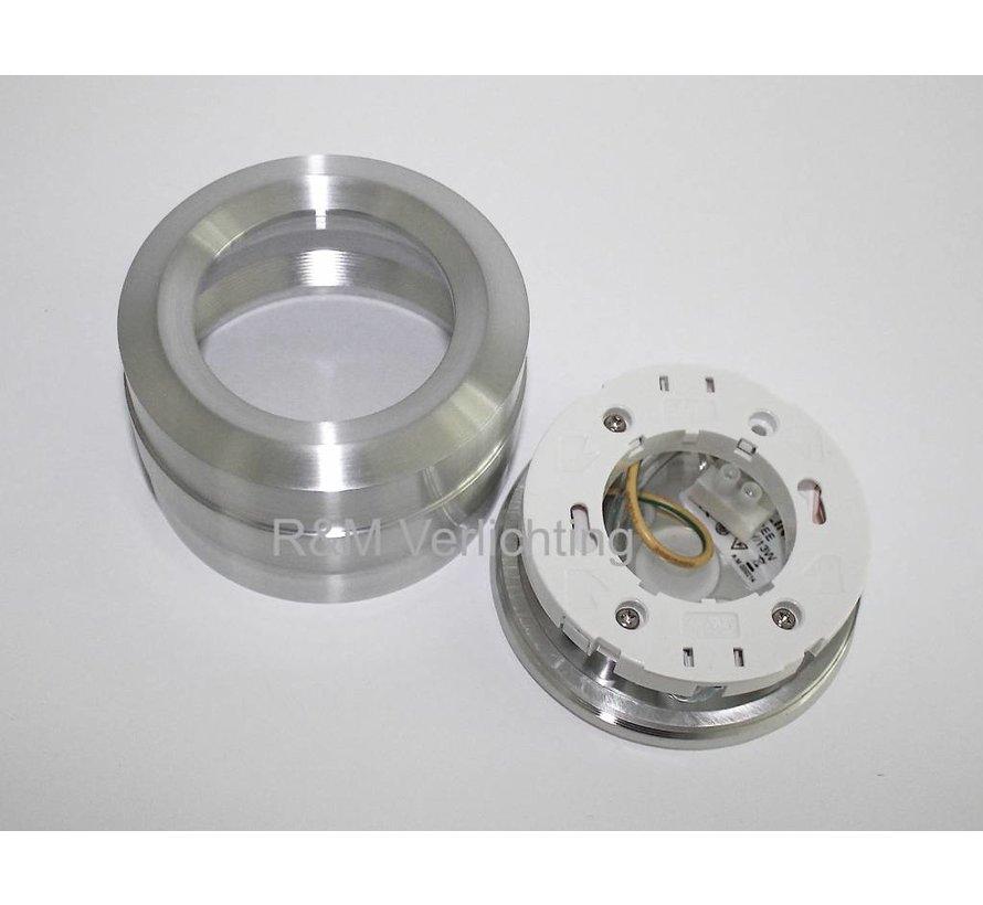 LED bathroom surface mounted luminaire IP65 gx53 230v alu