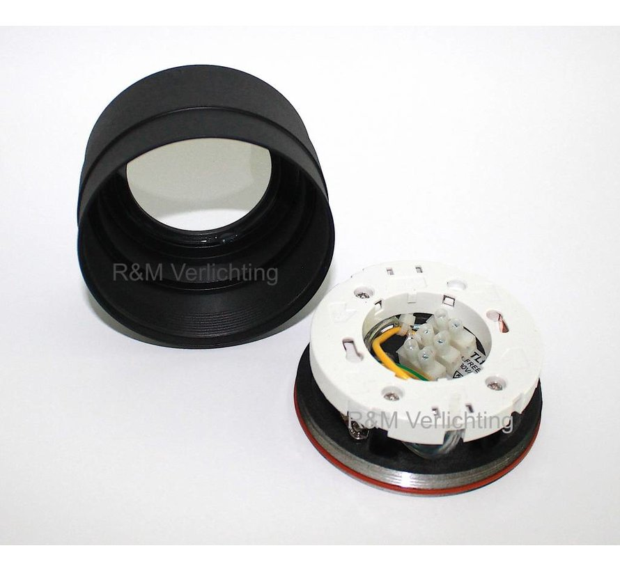 LED badkamer opbouwspot IP65 GX53 230v Zwart