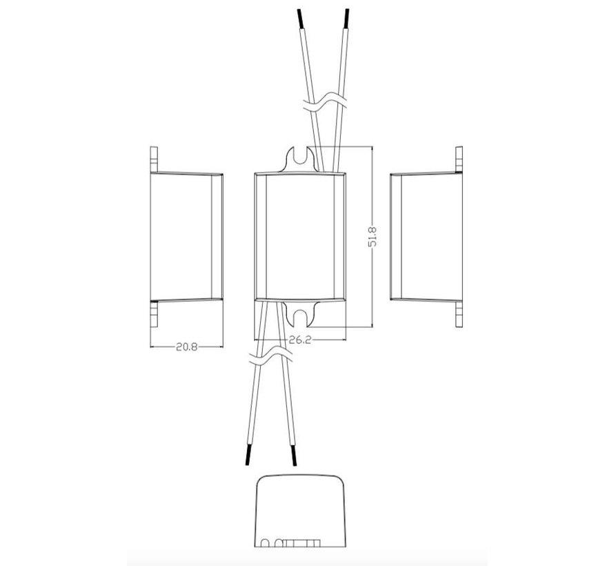 TDC LED driver 3w 3.2V 700mA AC 230V