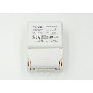 Merrytek 10 watt 1-10v en puls dimbare led driver 700ma cc