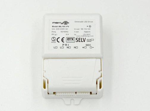 Merrytek dimmable LED driver 10 watt 700mA 6-36V dc