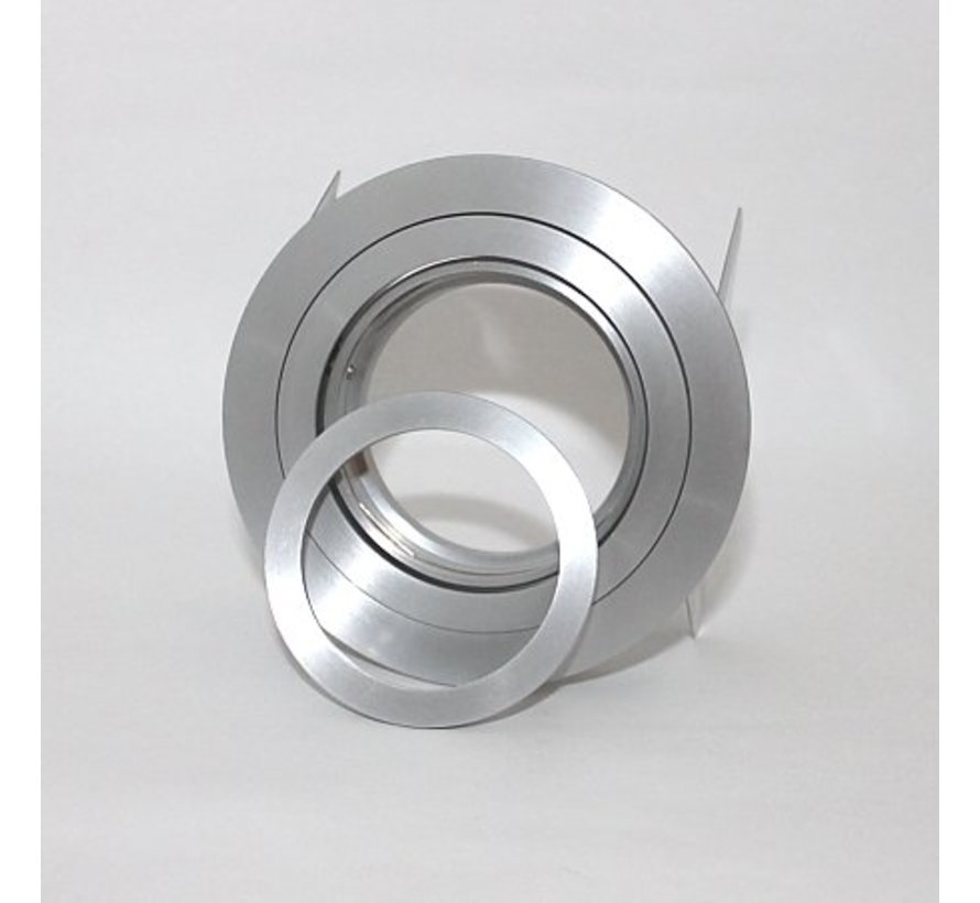 Recessed downlight round Tilt blade 50 R GU10  alu-mat