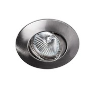 Lumi Parts Recessed downlight Solver 95mm tiltable satin-nickel