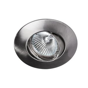 Lupa Recessed downlight Solver 95mm 12V / 230V tilting stainless steel look