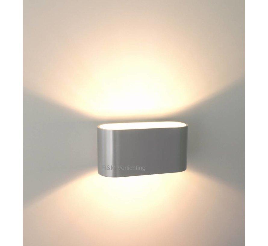 Wandlamp Oval aluminium-mat G9 230v