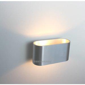 R&M Line Wandlamp Oval aluminium-mat G9 230v
