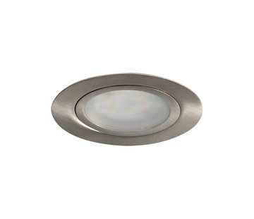R&M Line Cabinetspot LED  rond rvs-look