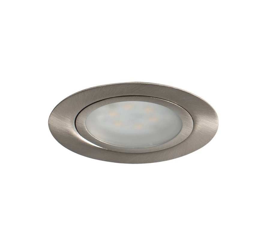 Cabinetspot LED Accent Two rond rvs-look 3,15w 350mA