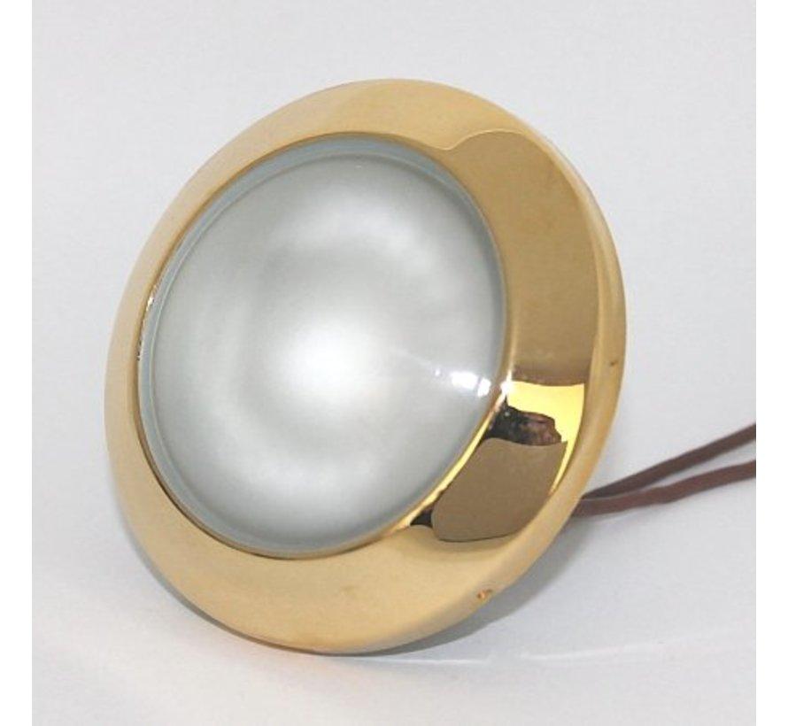 Meubel inbouwspot Dome goud 12v G4 14w eco halogeen