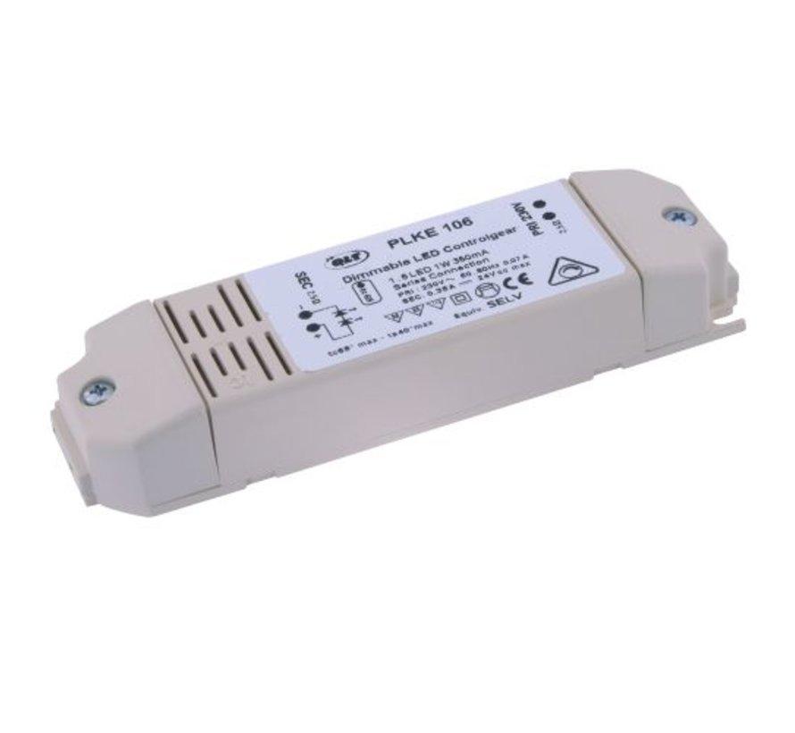 LED Driver PLKE 1060 dim 350ma /24v primair dim