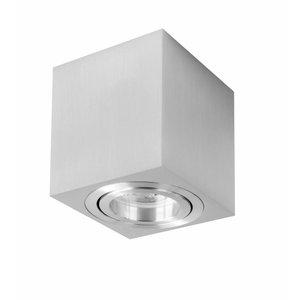 R&M Line Surface-mounted spot square Rebel GU10 aluminium