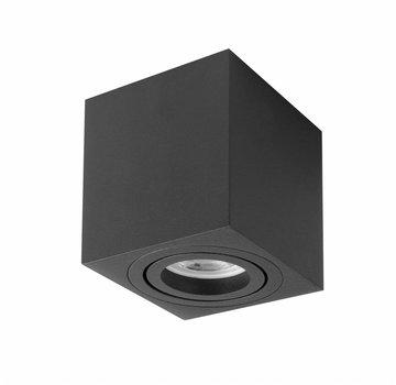 R&M Line Surface-mounted spot Rebel square black