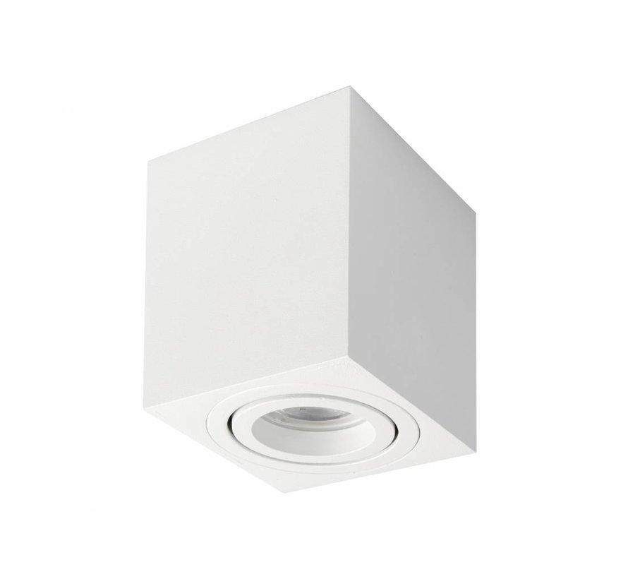 Surface-mounted spot square Rebel gu10 white