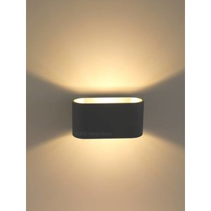 R&M Line Wandlamp Oval zwart G9 230v