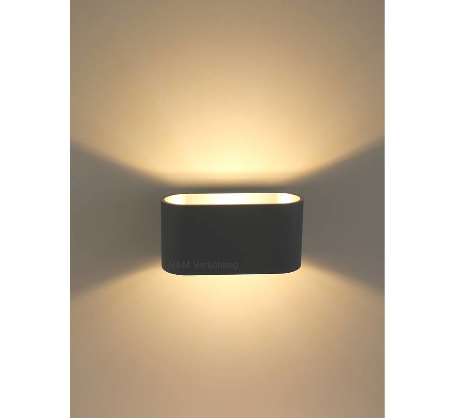 Wandlamp Oval zwart G9 230v