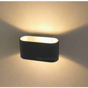 R&M Line Wall lamp Oval black G9 230v