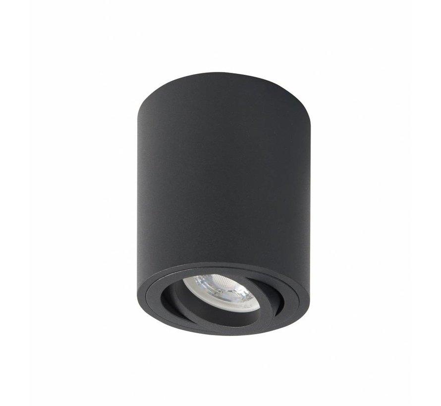 Surface-mounted spot round Rebel GU10 black