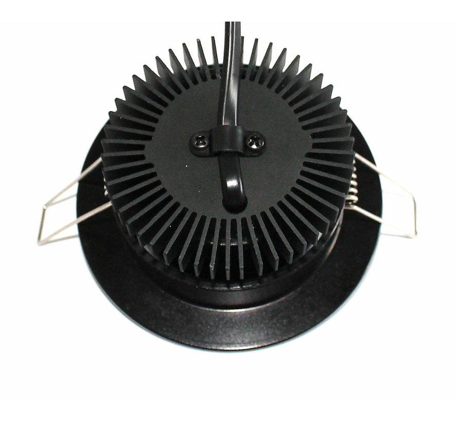 LED inbouwspot zwart 13 watt warm wit 2700k