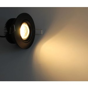 R&M Line LED inbouwspot zwart 13 watt warm wit 2700k