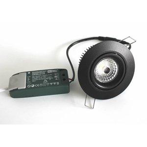 R&M Line Recessed downlight black LED 13 watt warm white 2700kelvin
