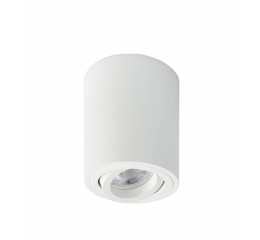 Surface-mounted spot round Rebel GU10 white