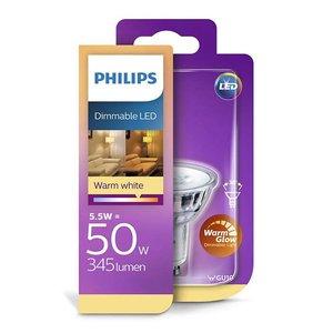 Philips WarmGlow LED spot GU10 dimbaar 2200-2700kelvin