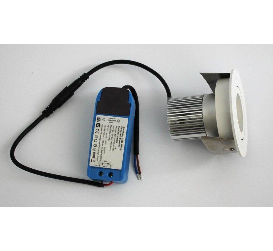 LED inbouwspot wit 9 watt  2700k IP65 dimbaar