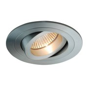 R&M Line Recessed downlight Tilt blade round alu-matt