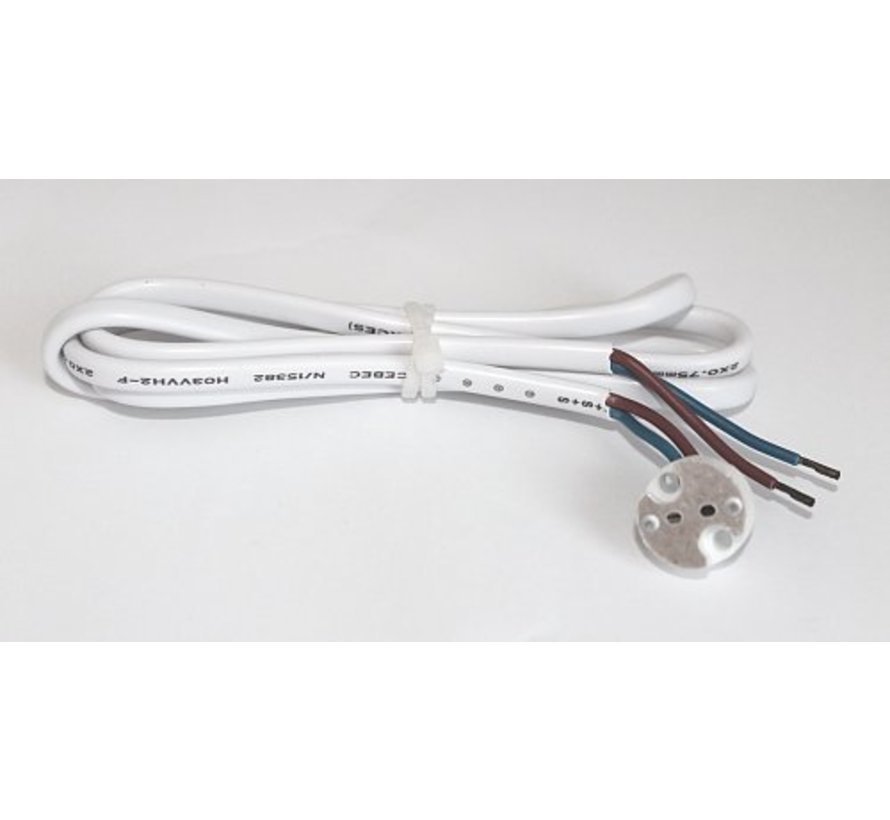 Connection cable with lamp holder 12v and ferrule