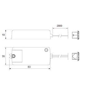 R&M Line Infrarood Mini Aan / Uit Sensor Schakelaar 250 watt