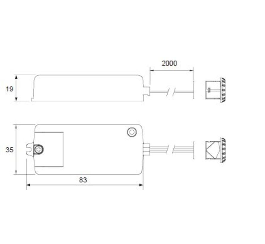 Infrarood mini Sensor Schakelaar 250 watt  Aan / Uit
