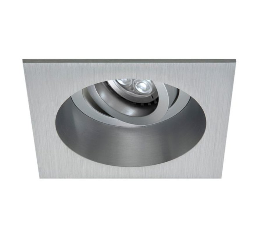 Inbouwarmatuur aluminium 12v/230v Tilt Q ANTI-GLARE