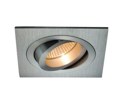 R&M Line Square aluminum recessed downlight GU10 230v tilt