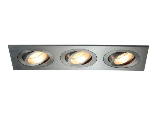 R&M Line Aluminium inbouwspot 3 lichts