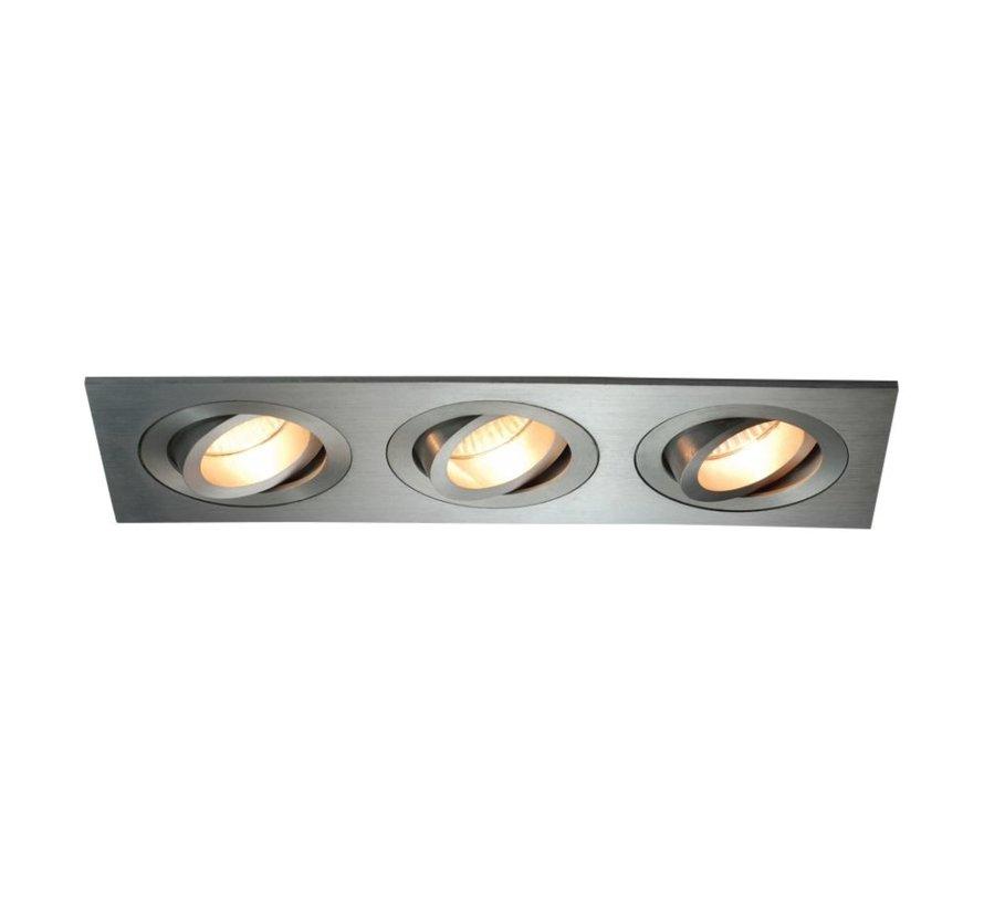Aluminium inbouwspot 3 lichts Tilt Blade 3X50