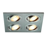 R&M Line Recessed spotlight 4 light Tilt Blade 4X50