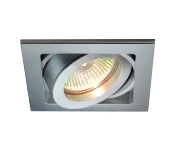 R&M Line Inbouwspot Qubo aluminium 12v/230v